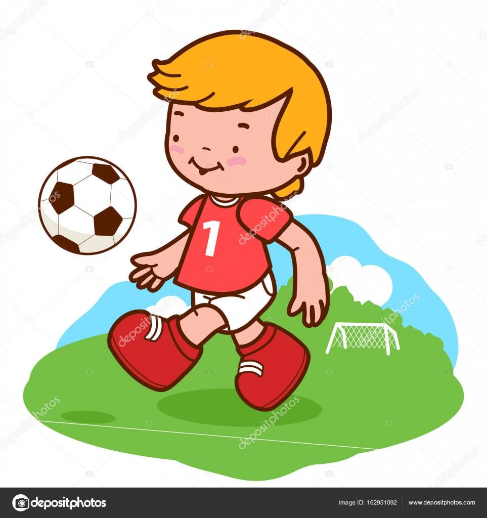 Nino Jugando Futbol Archivo Imagenes Vectoriales C Stockakia