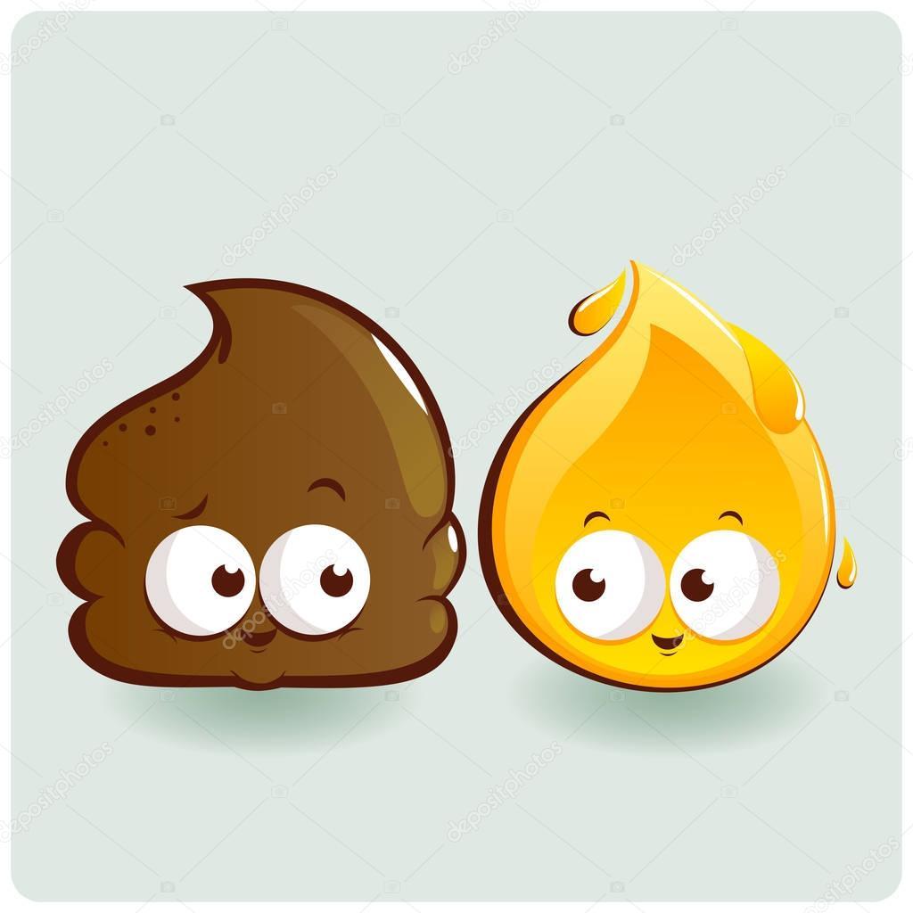 poop pee cute characters depositphotos vector