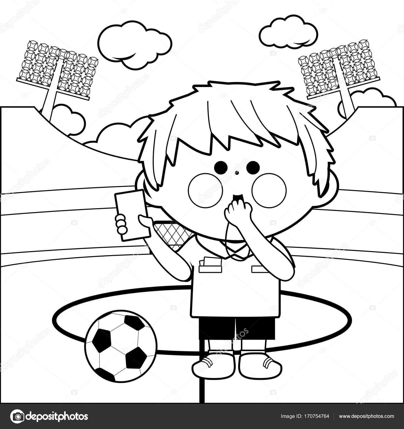 Unique image a colorier footballeur - Footballeur a colorier ...