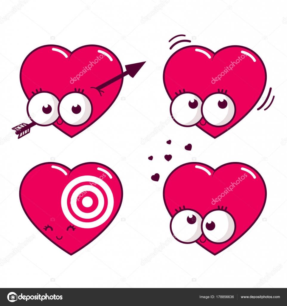Dibujos Amor Vectorizados Dibujos Animados Corazones En