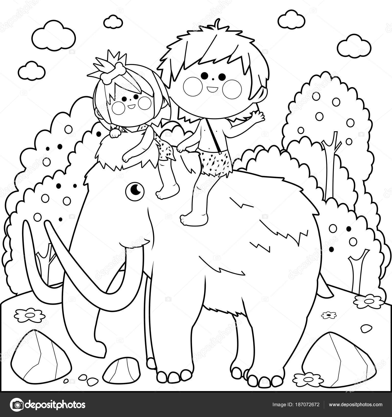 Dinosaur Coloring Pages | Printable Mastodon coloring page and ... | 1700x1600