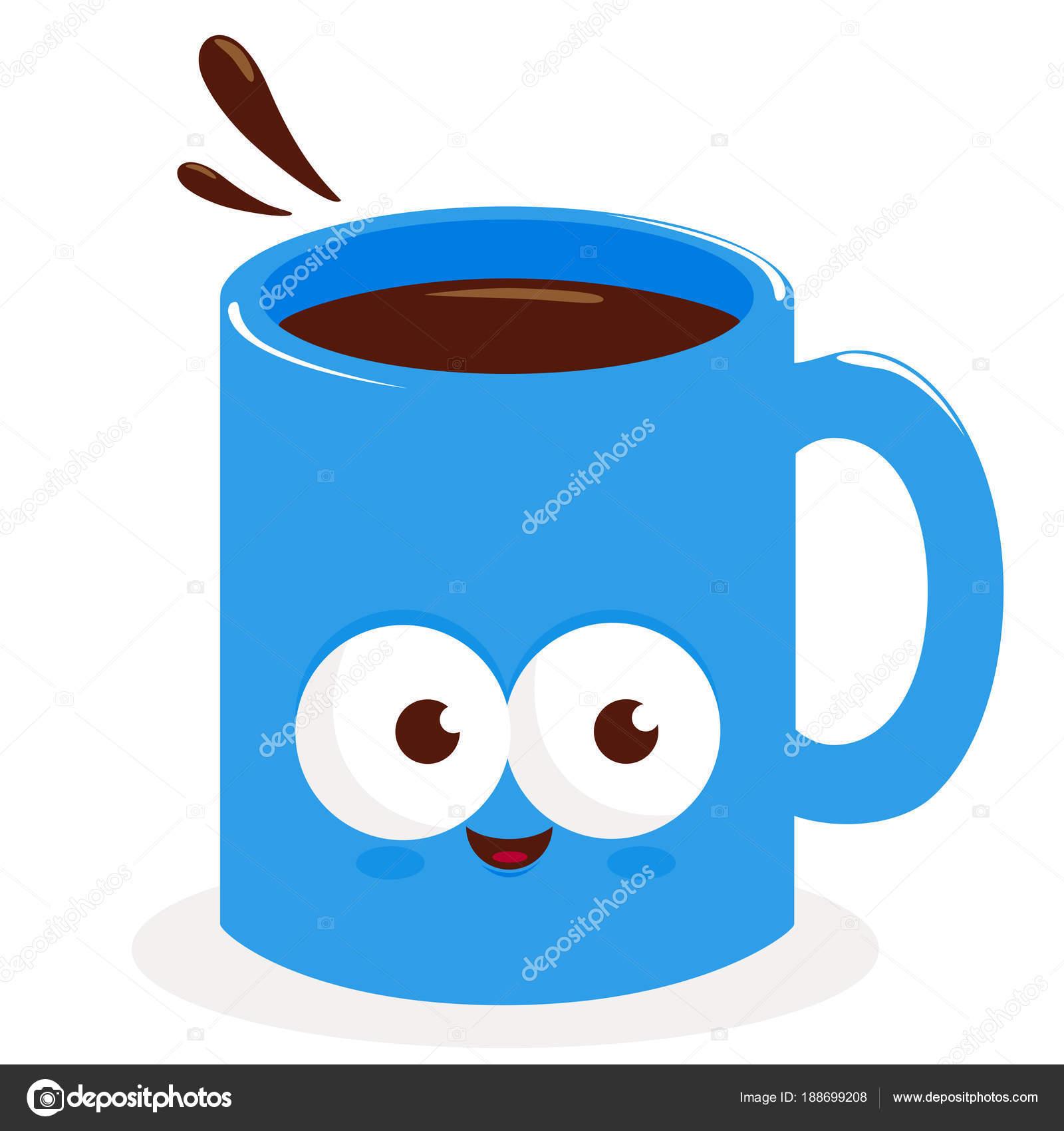 taza de dibujos animados de café — Archivo Imágenes Vectoriales ...