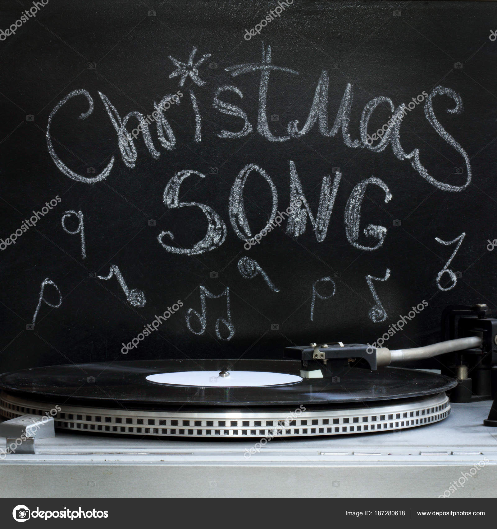 Retro Christmas song — Stock Photo © baza178 #187280618