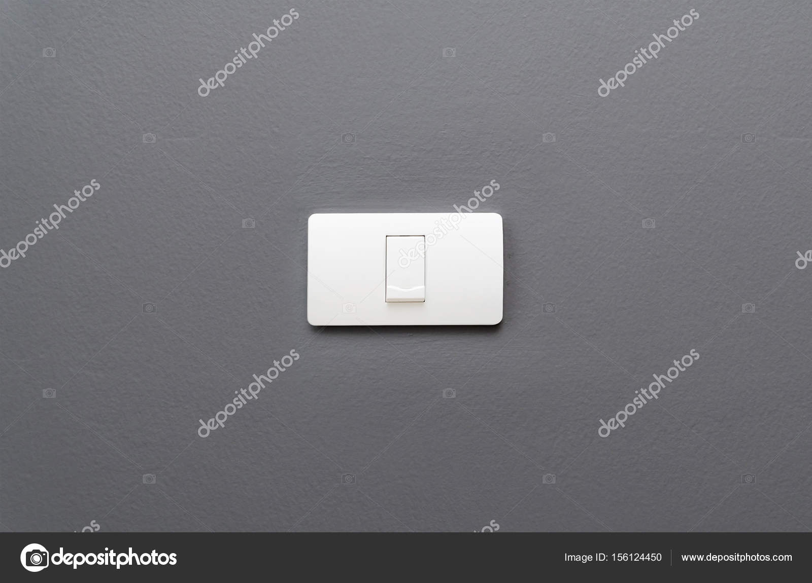 Light switch on gray concrete wall background. — Stock Photo ...