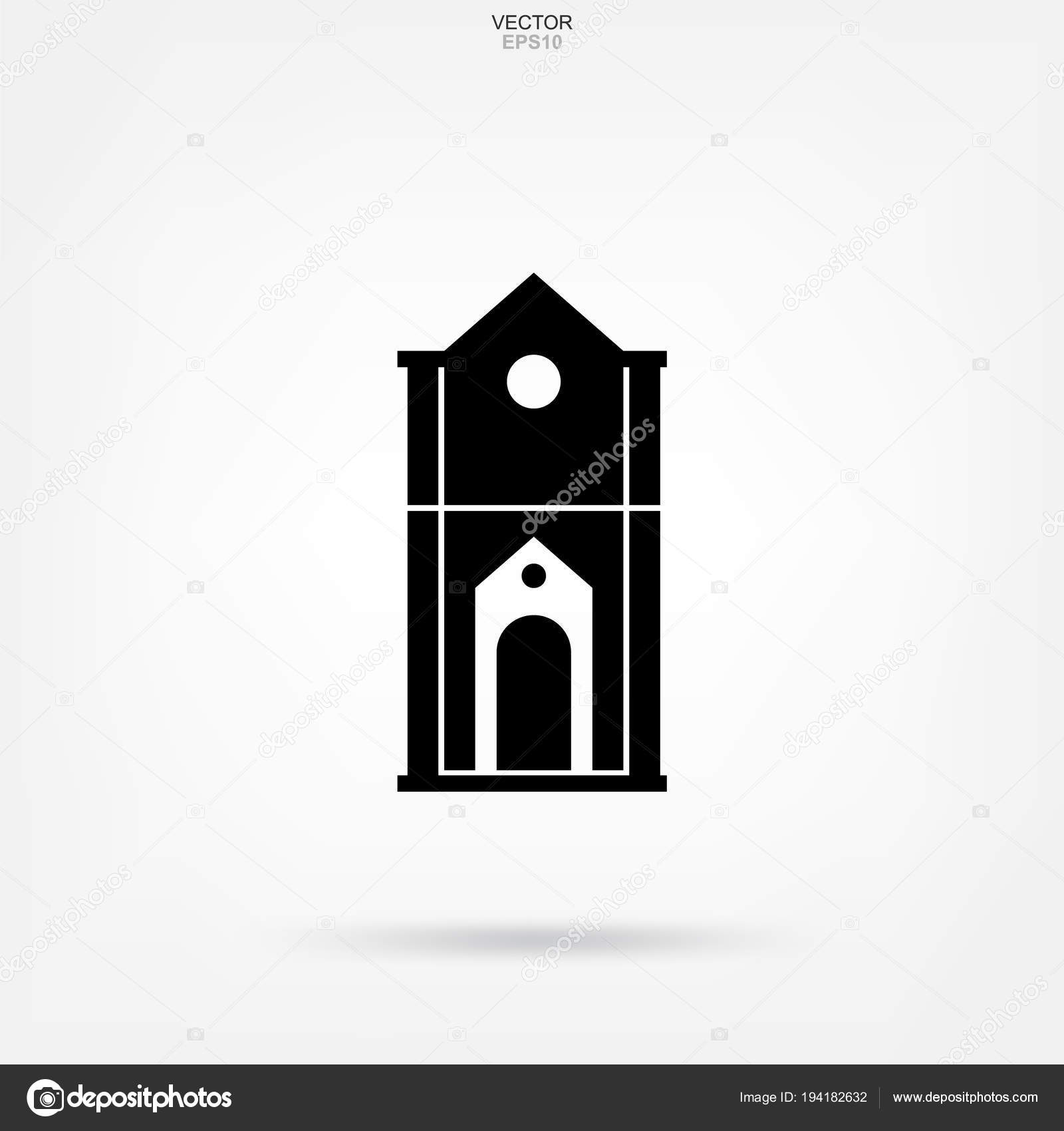 Classic Building Icon Architectural Sign And Symbol Vector Ill