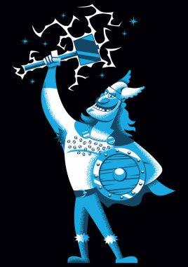 Cartoon Thor on Black