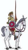 Fotografie Don Quijote auf Weiß