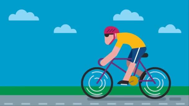 Cyklistické silniční animace