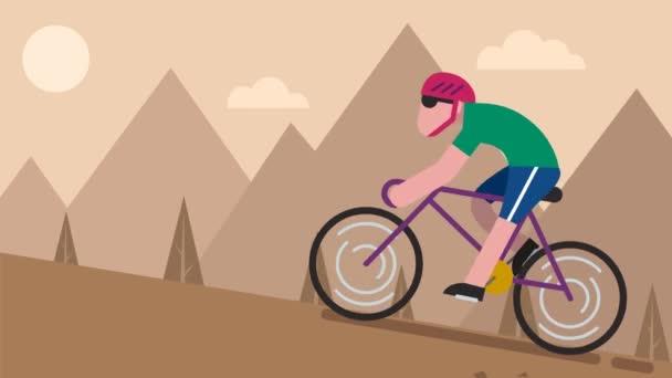 Jízda na kole Mountain animace