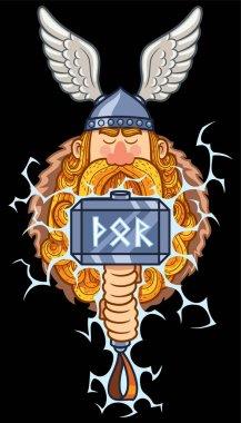 Thor Cartoon Portrait
