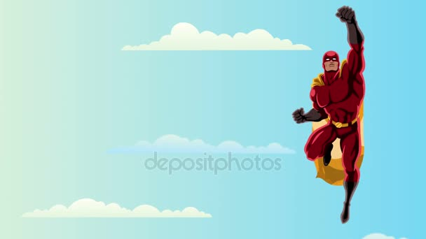 2 cielo di volo del supereroe
