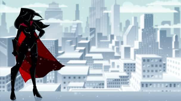 Superheroine állandó magas téli sziluett