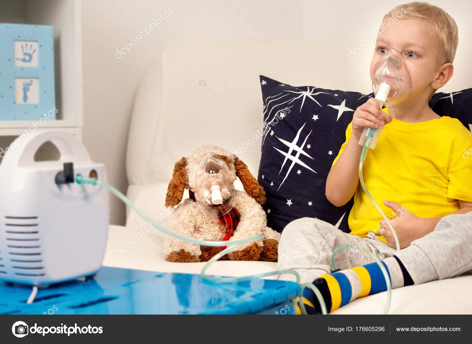 Con Juguete Inhalación Niño PerroHace Nebulizador qc3RjL4S5A