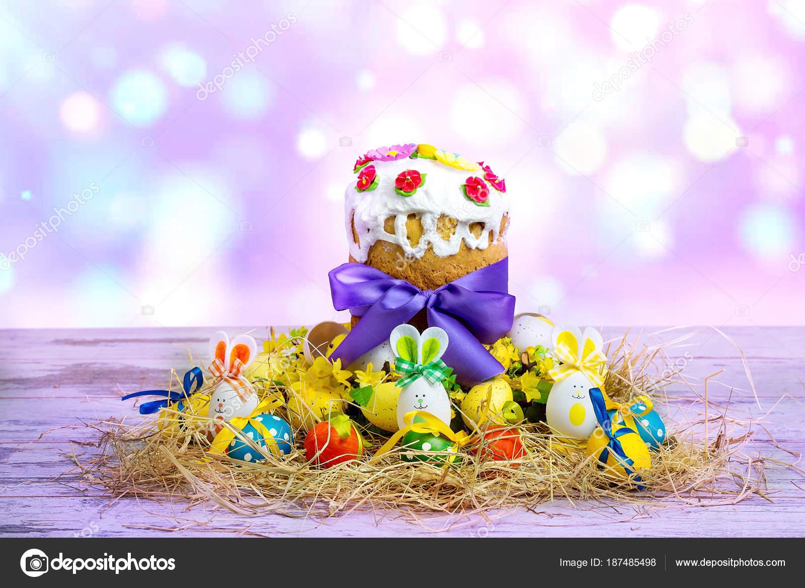 Frohe Weihnachten Ukrainisch.Frohe Ostern Osterkuchen Russische Und Ukrainische