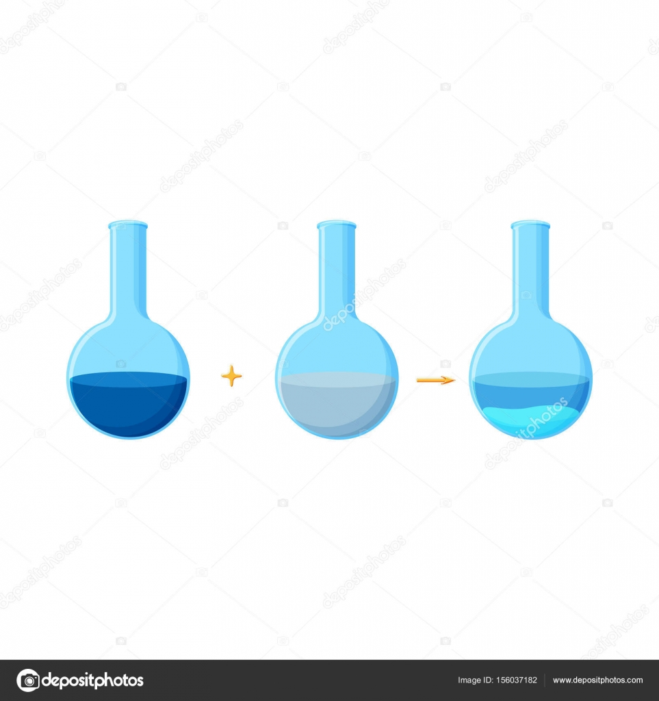 Diagram Of Chemical Experiment Which Shows The Reaction