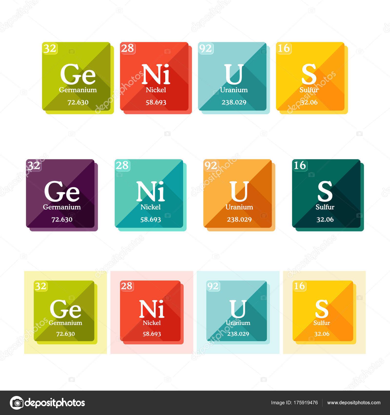 Genio de la palabra formada por los elementos de la tabla genio de la palabra formada por los elementos de la tabla peridica vector de stock urtaz Choice Image