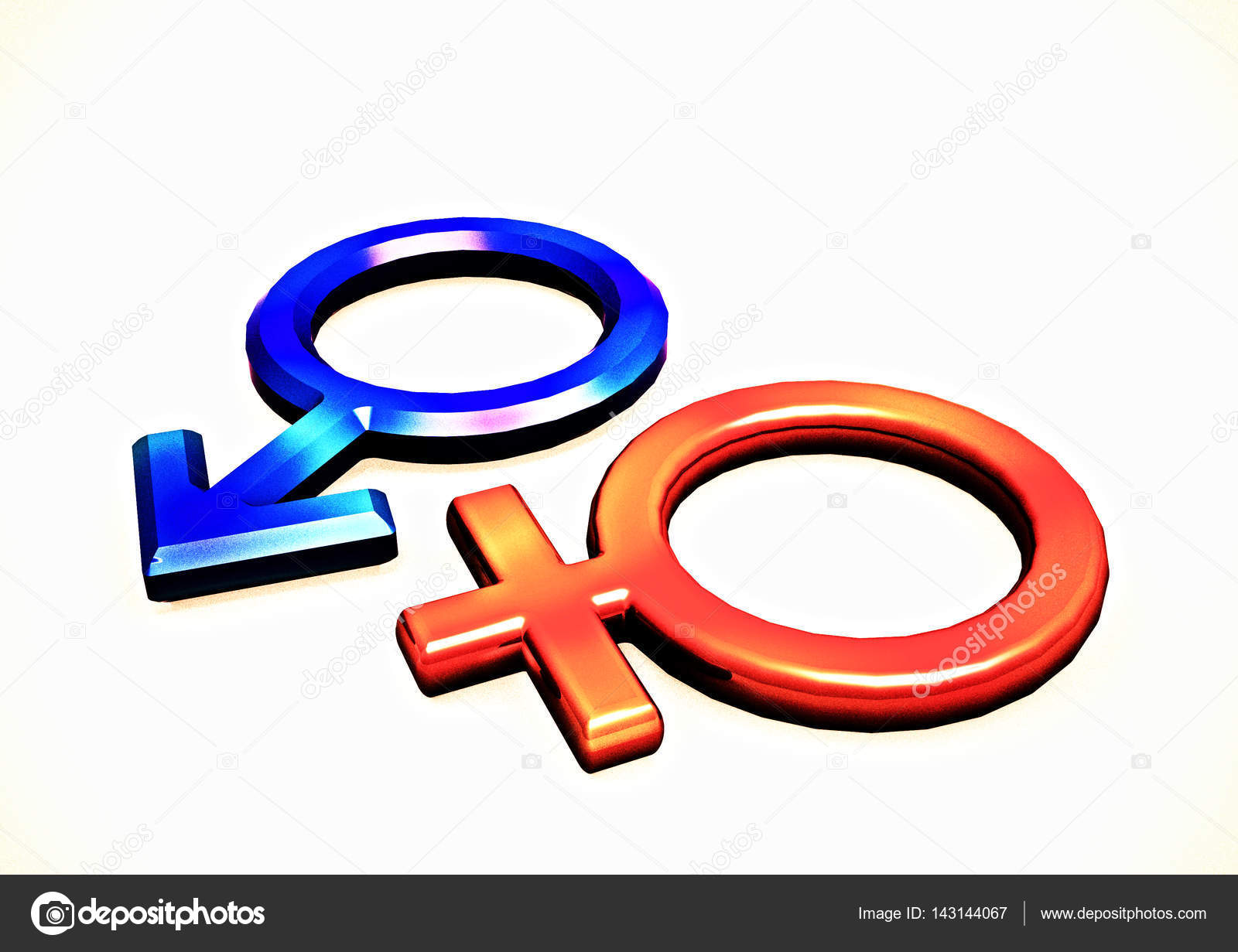 Mans and female symbols 3d render stock photo richter1910 dimensional mans and female signs on a white background 3d render photo by richter1910 buycottarizona