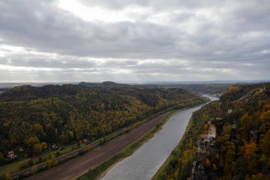 Autumn in german Mountains and Forests - Saxon Switzerland is a
