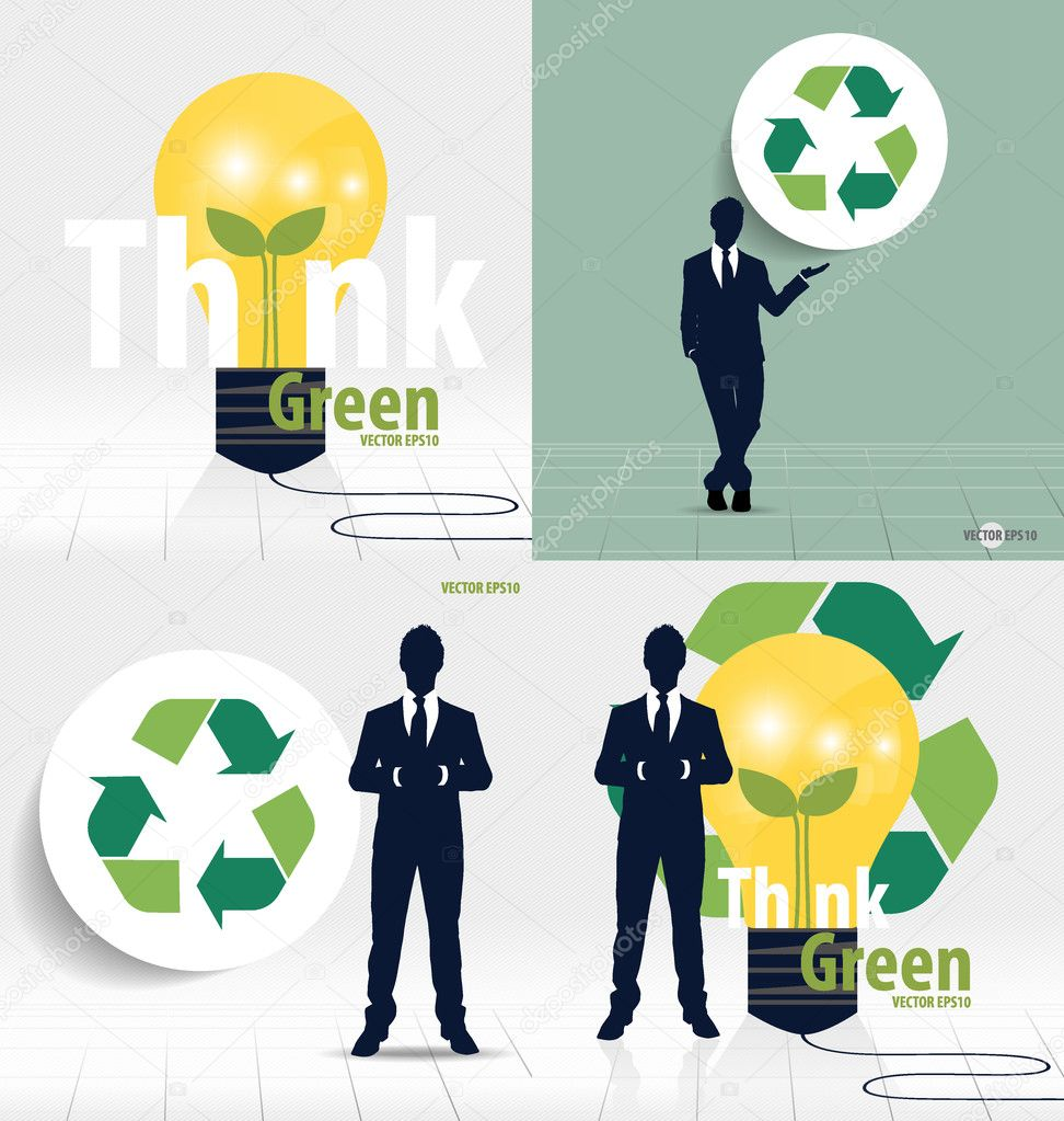 Businessman and recycle symbol vector symbol on the packaging businessman and recycle symbol vector symbol on the packaging vector illustration vector by jannystockphoto buycottarizona Images