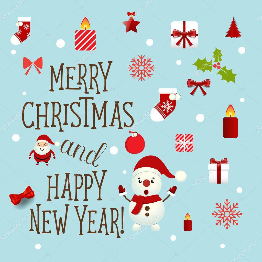 Immagini Natalizie Con Scritte.Cartolina D Auguri Di Natale Con Scritta Buon Natale