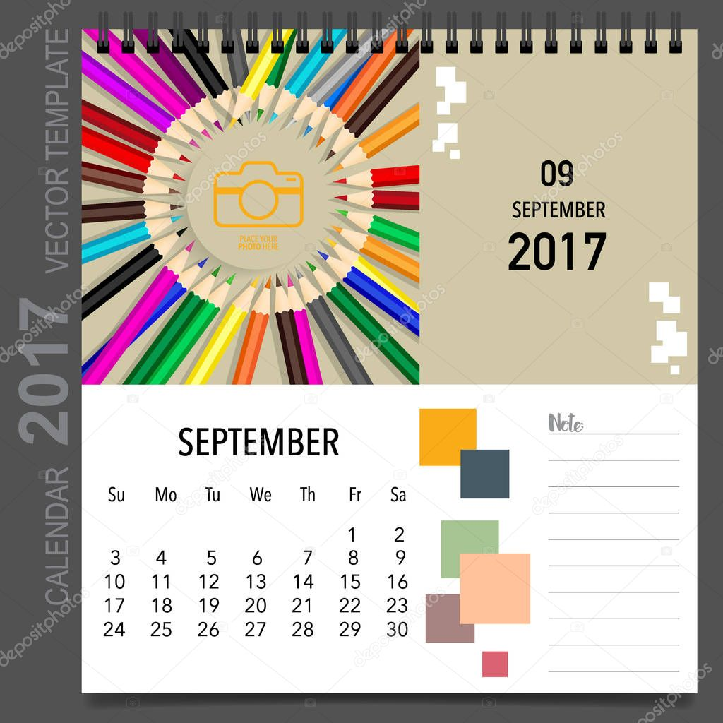 Calendar Templates Graphic Design : Calendar planner vector design monthly calendar template f