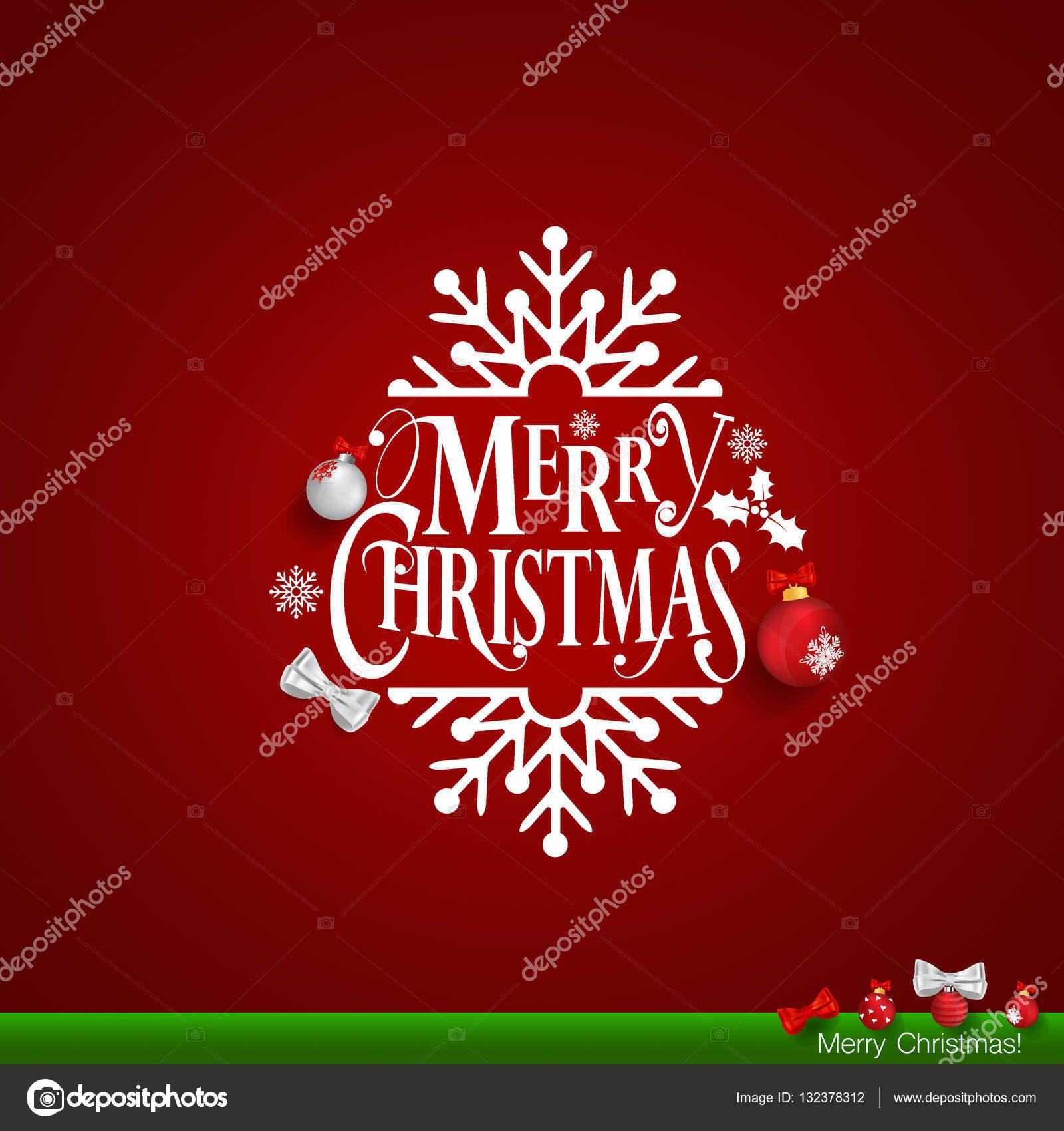 Immagini Natalizie Con Scritte.Illustrazione Con Scritte Di Buon Natale Cartolina D