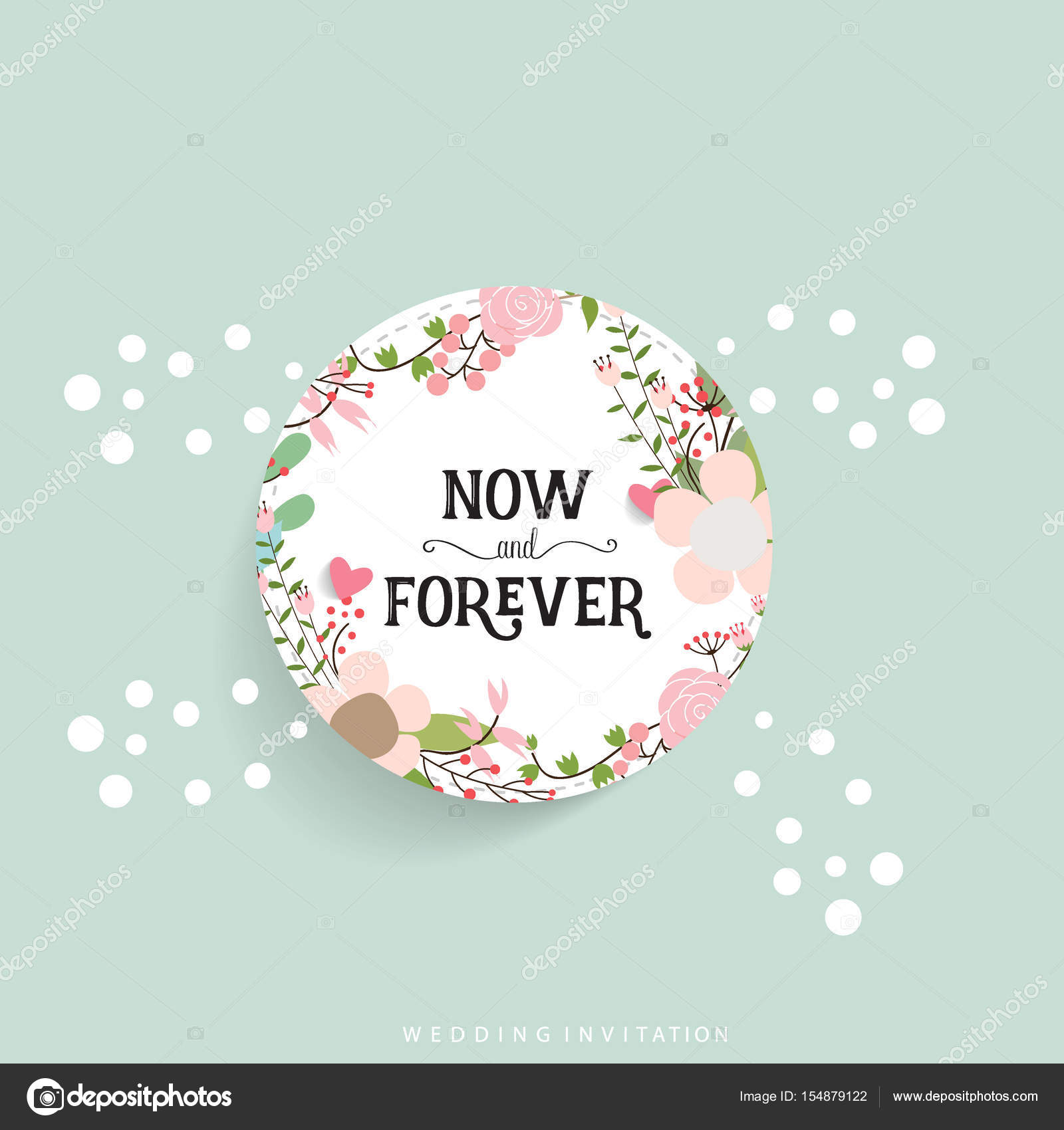 Wedding invitation card design with cute flower templates vecto wedding invitation card design with cute flower templates vecto stock vector stopboris Images
