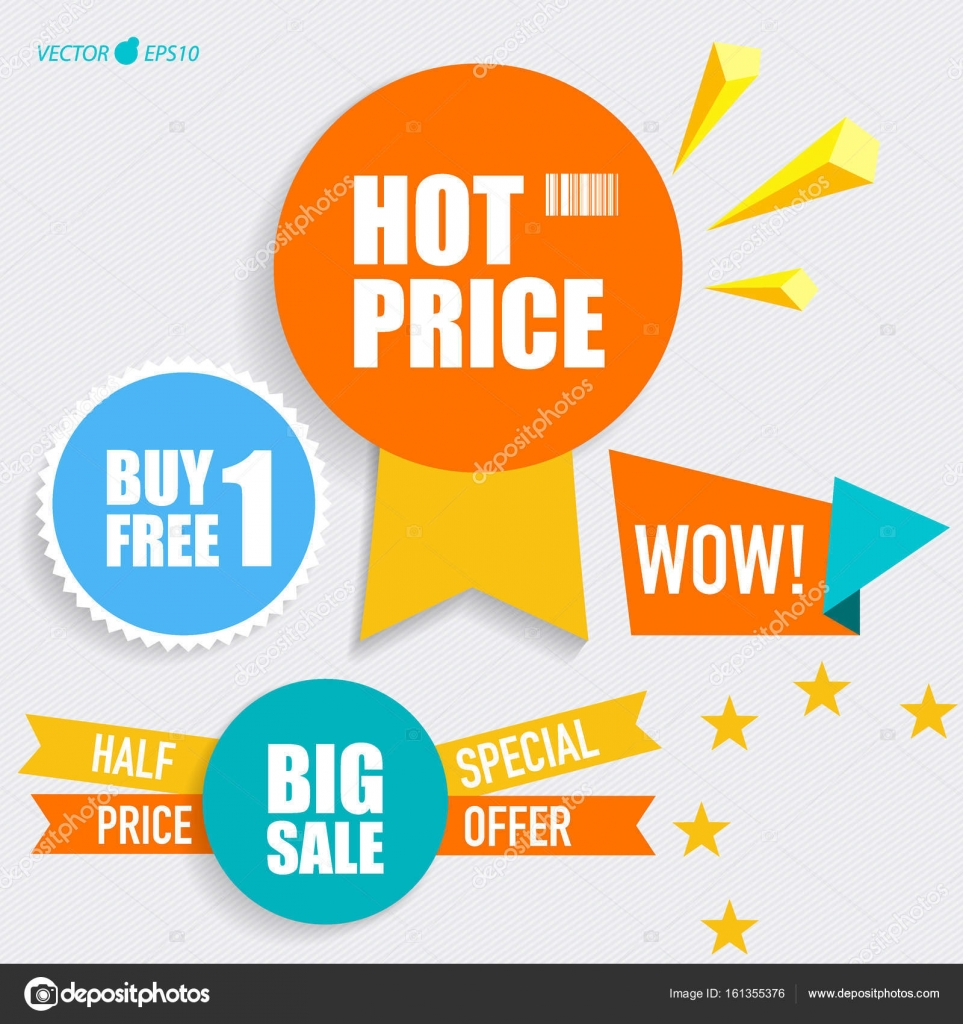 sale label price tag template design vector illustration stock
