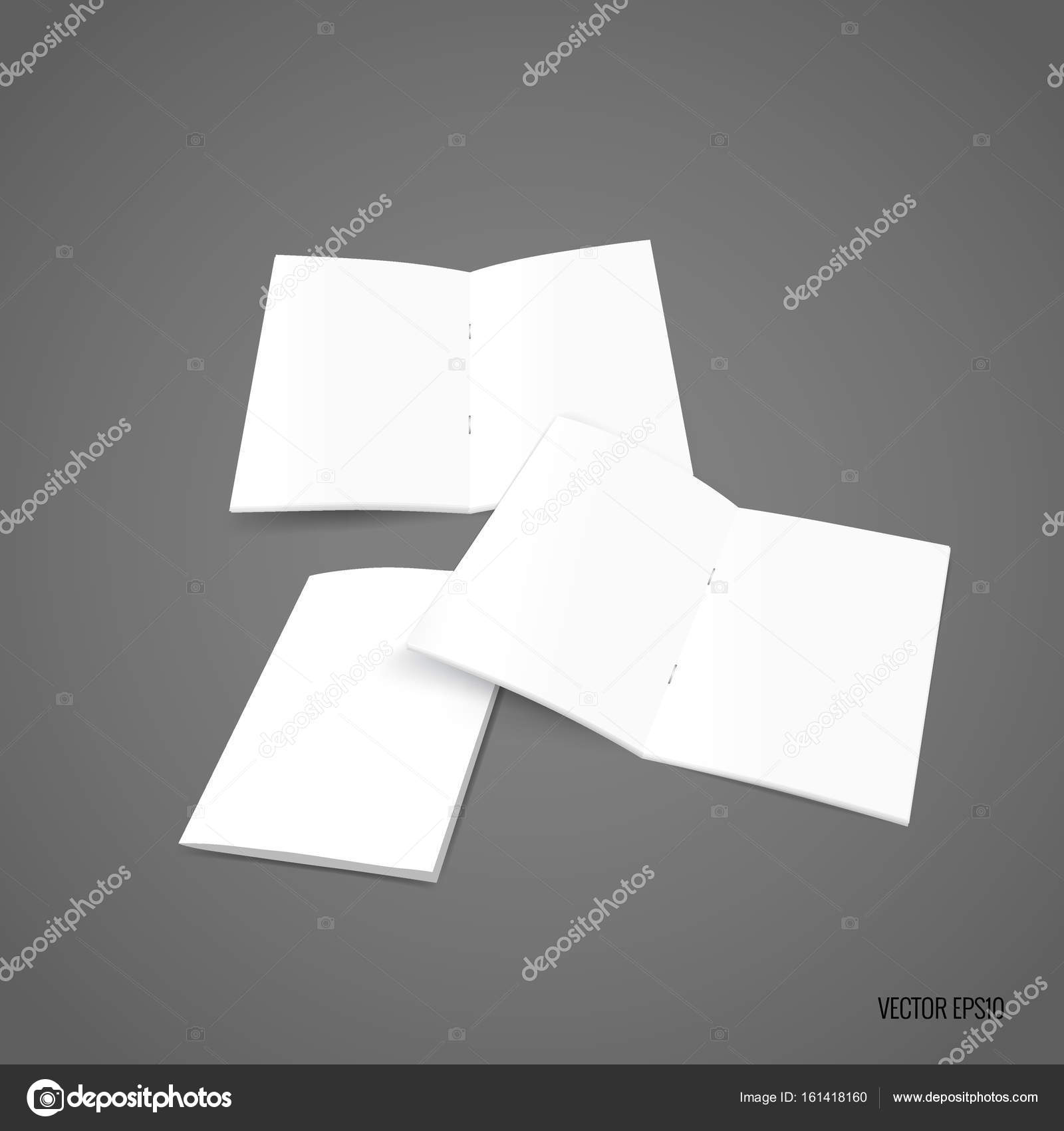 bifold white template paper vector illustration stock vector