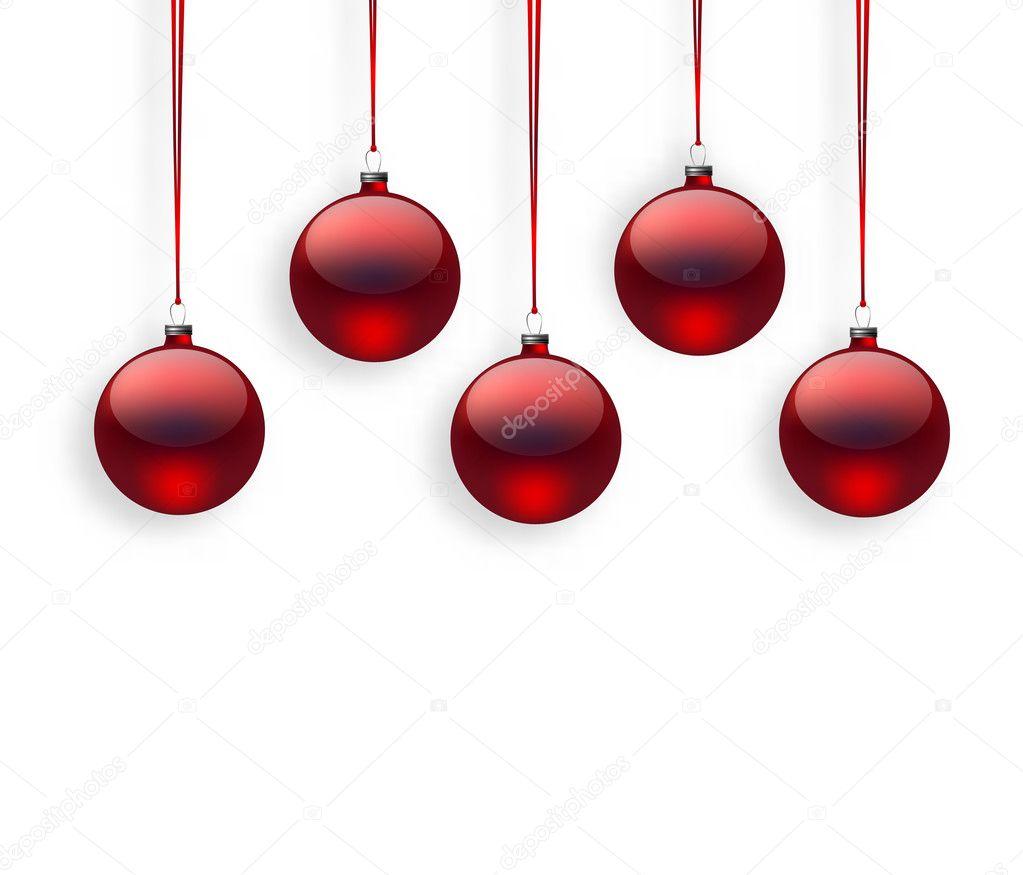 Rote Christbaumkugeln.Rote Christbaumkugeln Stockvektor C Katerinamk 126380564