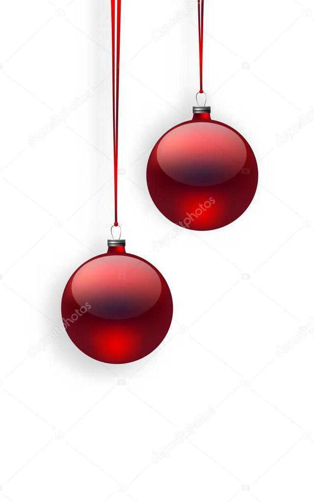 Rote Christbaumkugeln.Rote Christbaumkugeln Stockvektor C Katerinamk 126381002