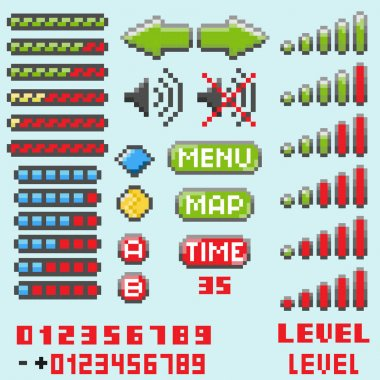 Set of pixel elements