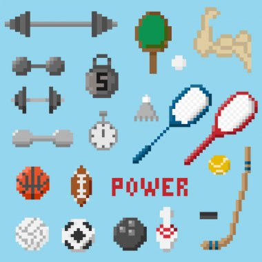 A set of pixel objects associated with the sport