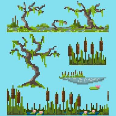 A set of pixel elements