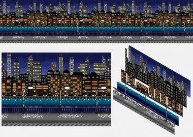 Pixel seamless background