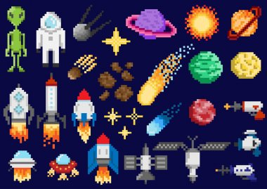 Space ships, planets, satellites