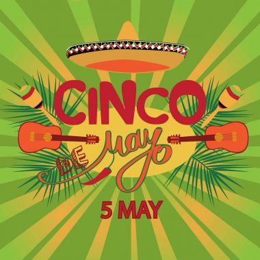 Cinco De Mayo coaster design, poster, flier, signage, party invitation
