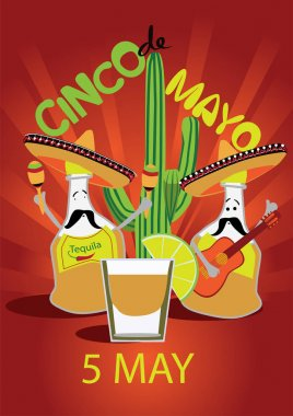 Cinco De Mayo poster, flier, signage, party invitation