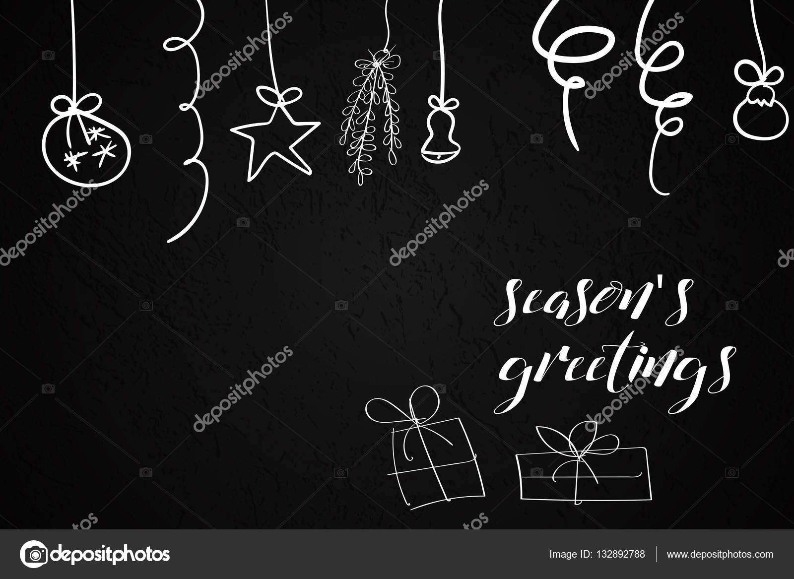 Seasons greetings card with gifts and christmas decorations seasons greetings card with gifts and christmas decorations stock vector pooptronica