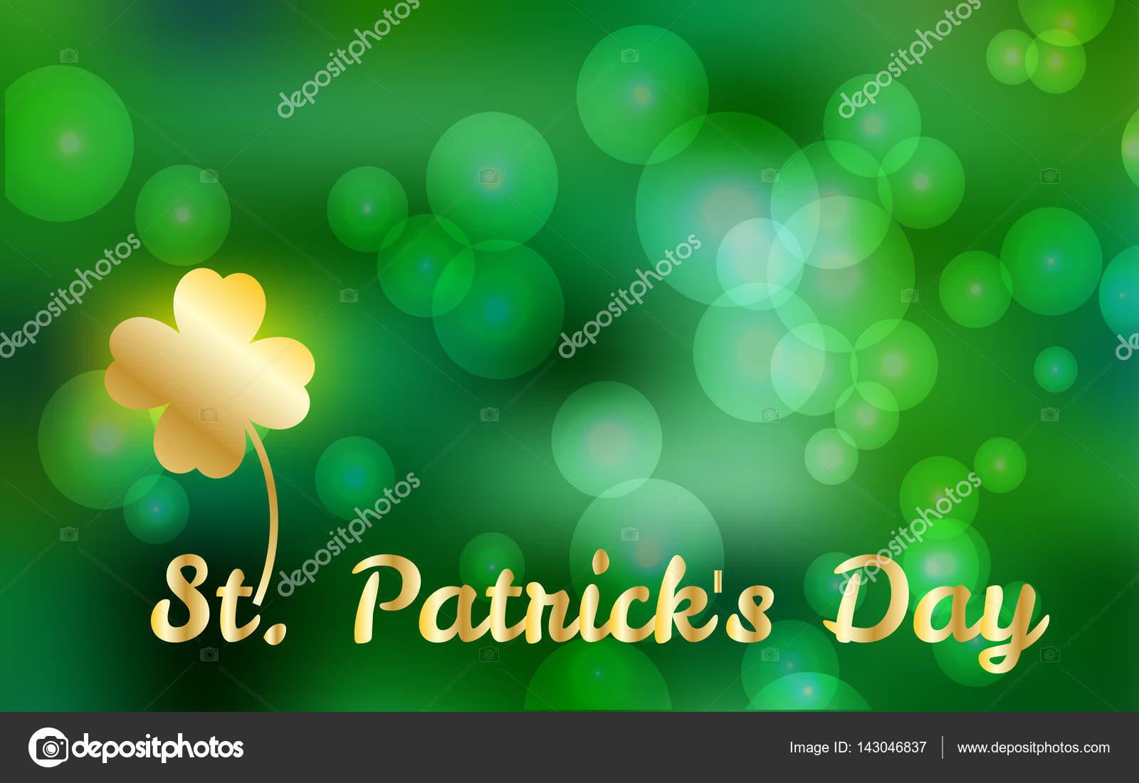 Vector ilustración de St. Patricks Day feliz, resorte desenfoque ...