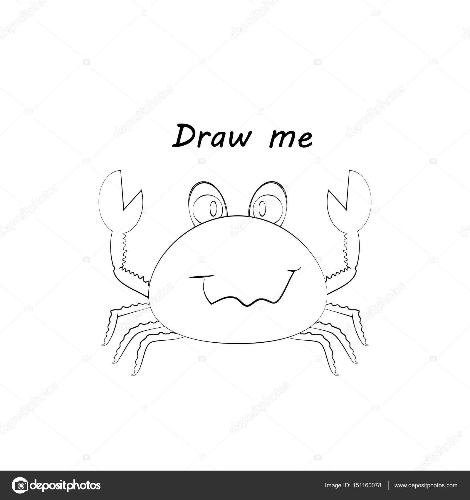 Dibujarme - vector ilustración de animales del mar. El cangrejo ...