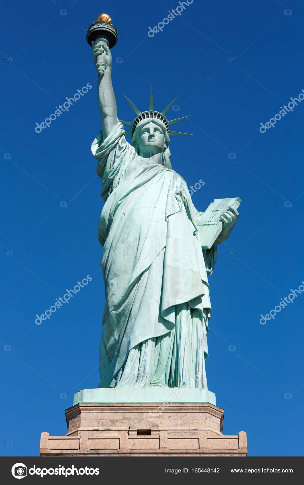 day stock of york statue a photo skies and pedestal clouds sunny island new her wispy yor overlooking with blue on liberty lady hpbkca tickets harbor