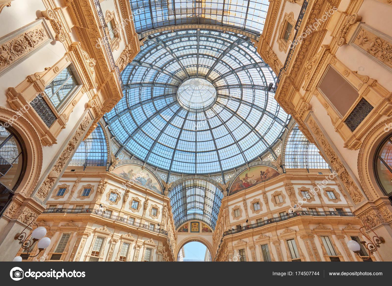 Mailand, Vittorio Emanuele Galerie Interieur, große Winkel anzeigen ...