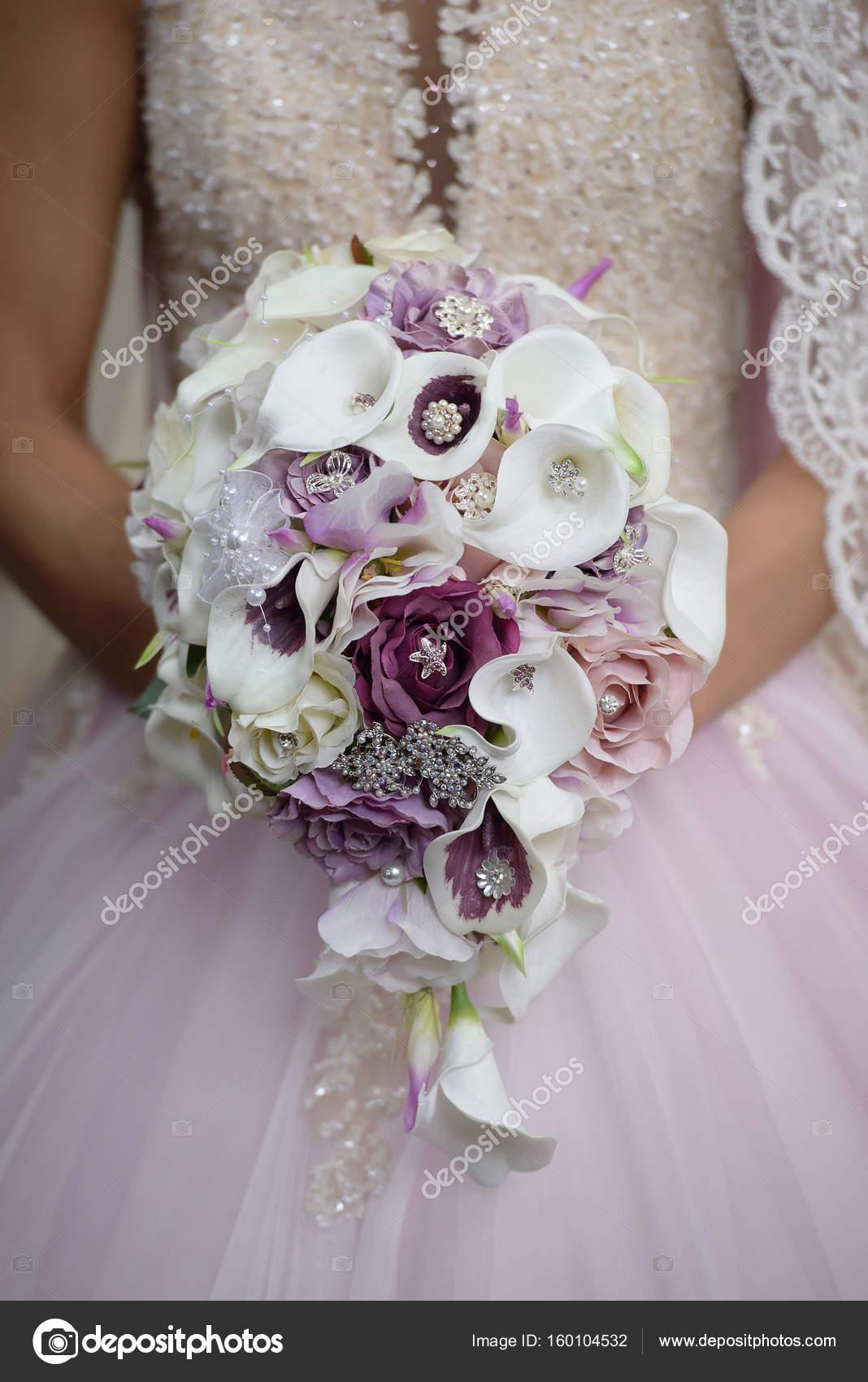 Pictures Purple Lily Bridal Bouquet Bride Holding Wedding