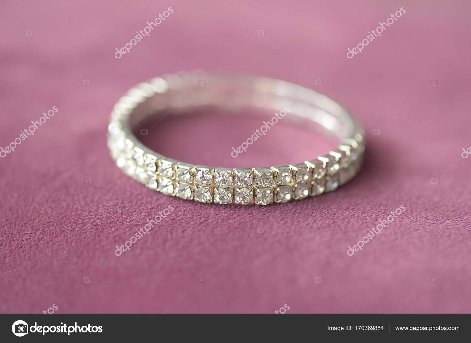 Fake diamonds double row prong setting mount bracelet with selective ...