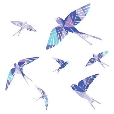 abstract swallows illustration