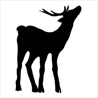 Black deer silhouette