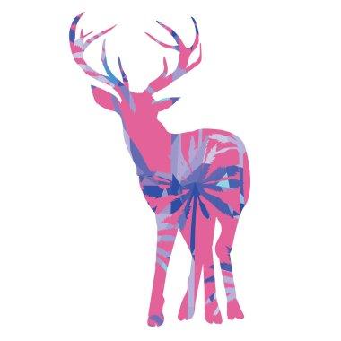 Abstract deer design