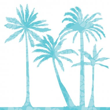 color palms silhouettes