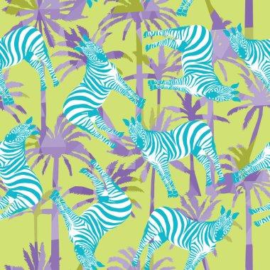 zebras seamless patern